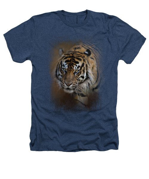 Bengal Stare Heathers T-Shirt by Jai Johnson