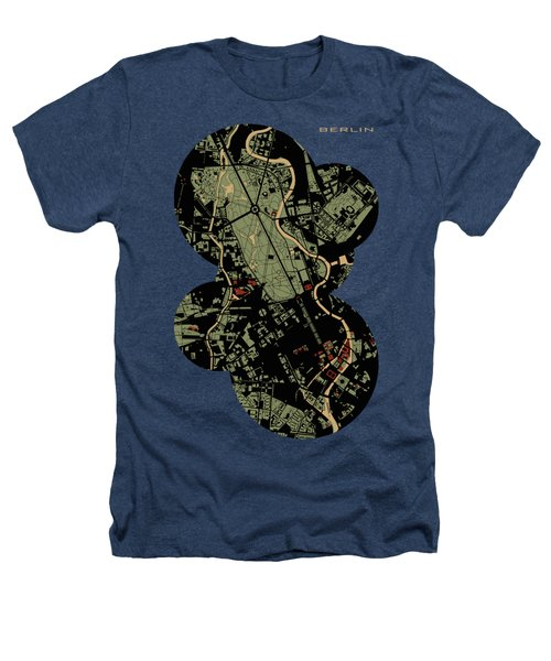 Berlin Engraving Map Heathers T-Shirt by Jasone Ayerbe- Javier R Recco