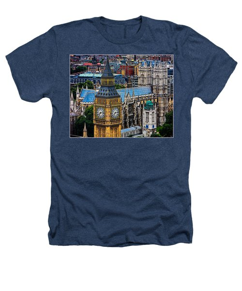 Big Ben And Westminster Abbey Heathers T-Shirt by Chris Lord