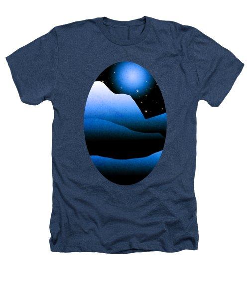 Blue Moon Mountain Landscape Art Heathers T-Shirt by Christina Rollo