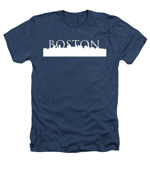 Boston Skyline Outline Logo 2 Heathers T-Shirt by Joann Vitali
