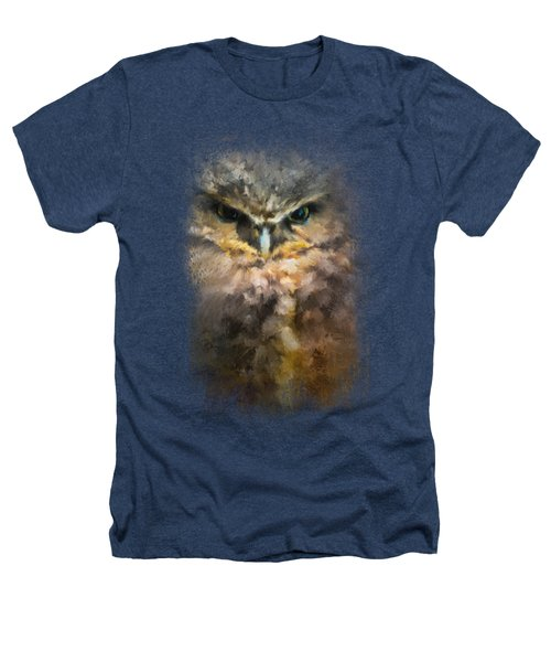 Burrowing Owl Heathers T-Shirt by Jai Johnson