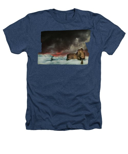 Castle In The Clouds Heathers T-Shirt by Terry Fleckney