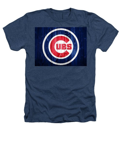 Chicago Cubs Barn Door Heathers T-Shirt by Dan Sproul