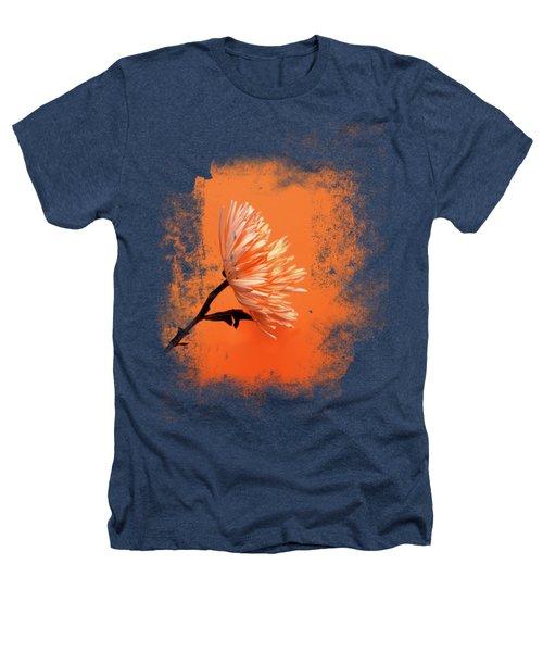 Chrysanthemum Orange Heathers T-Shirt by Mark Rogan