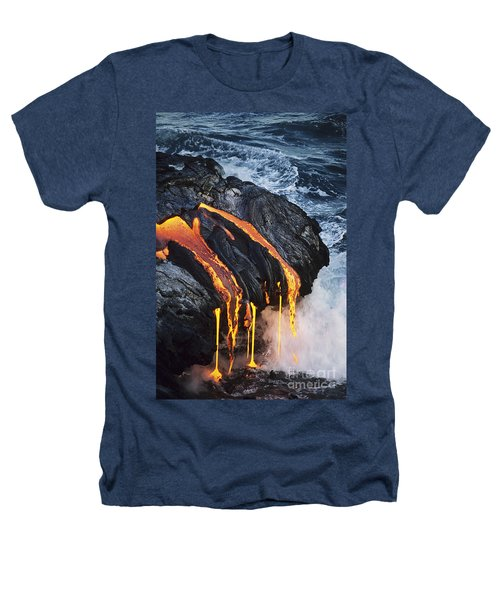 Close-up Lava Heathers T-Shirt by Don King - Printscapes