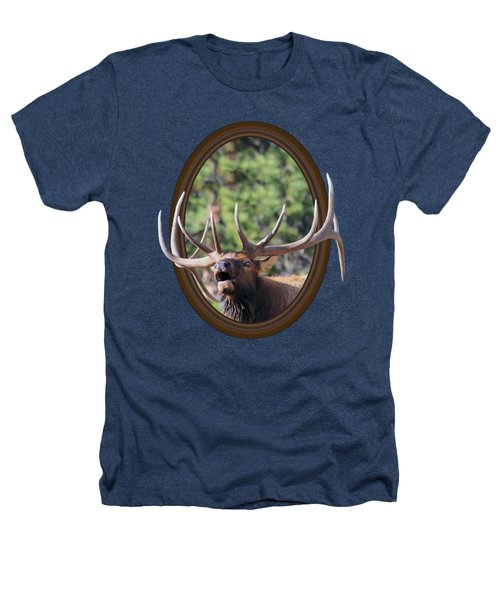 Colorado Bull Elk Heathers T-Shirt by Shane Bechler