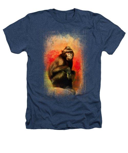 Colorful Expressions Black Monkey Heathers T-Shirt by Jai Johnson