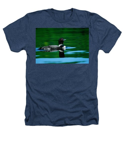 Common Loon In Water, Michigan, Usa Heathers T-Shirt by Panoramic Images
