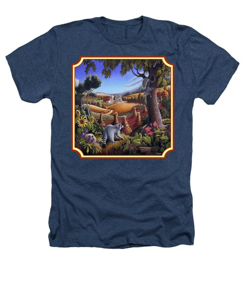Coon Gap Holler Country Landscape - Square Format Heathers T-Shirt by Walt Curlee