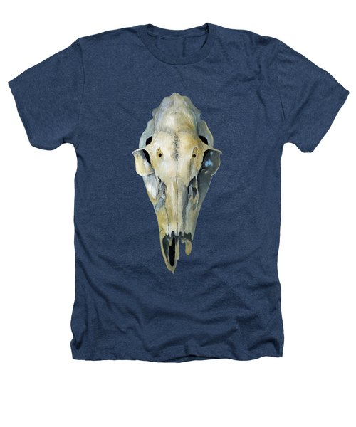 Deer Skull Aura Heathers T-Shirt by Catherine Twomey