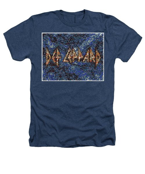 Def Leppard Albums Mosaic Heathers T-Shirt by Paul Van Scott