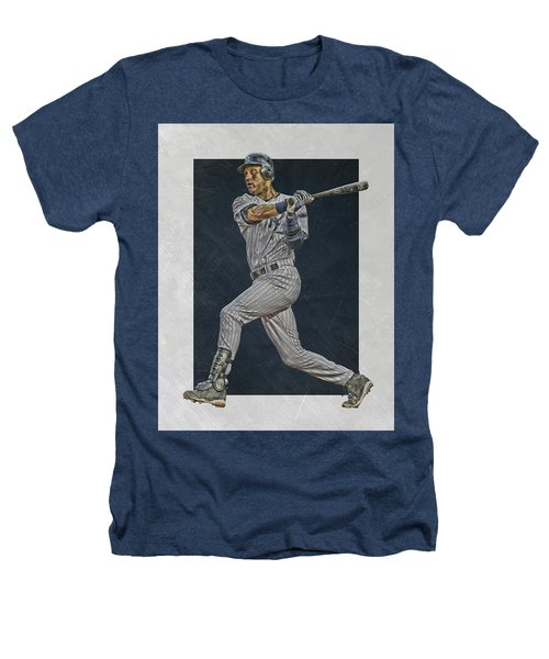 Derek Jeter New York Yankees Art 2 Heathers T-Shirt by Joe Hamilton