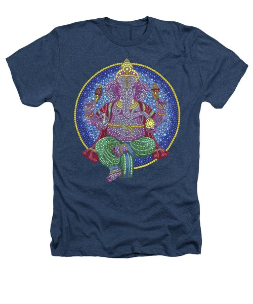 Digital Ganesha Heathers T-Shirt by Tim Gainey