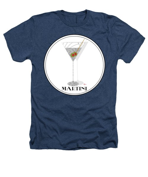 Dry Martini Cocktail Pop Art Deco Heathers T-Shirt by Cecely Bloom