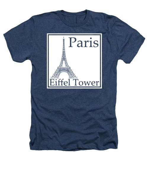 Eiffel Tower In White Heathers T-Shirt by Custom Home Fashions