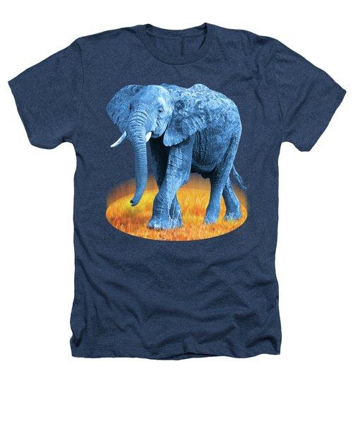 Elephant - World On Fire Heathers T-Shirt by Gill Billington
