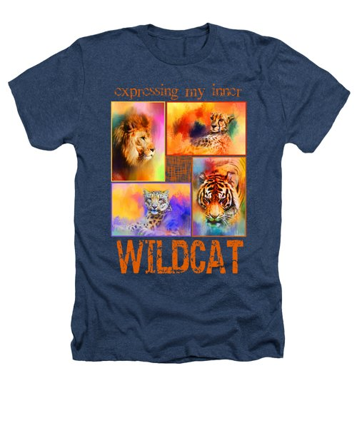 Expressing My Inner Wildcat Heathers T-Shirt by Jai Johnson