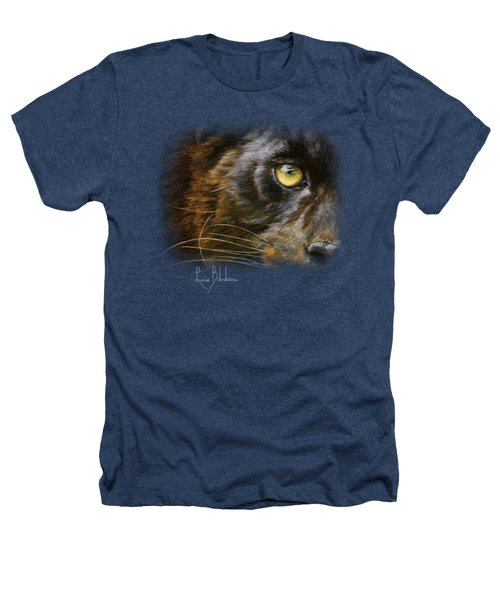Eye Of The Panther Heathers T-Shirt by Lucie Bilodeau