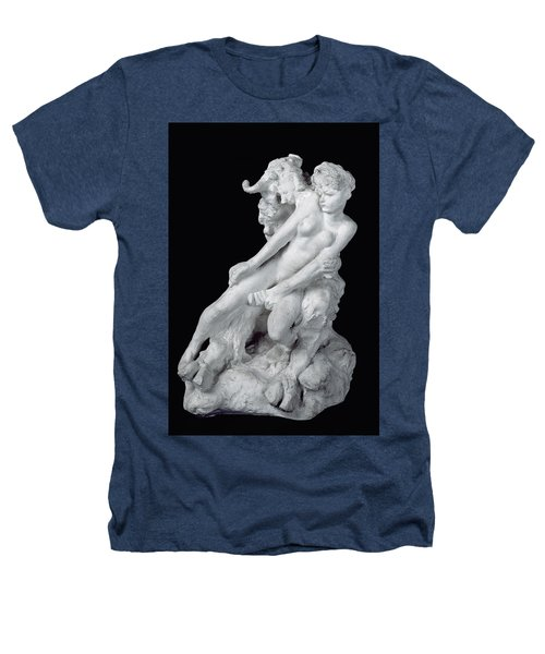 Faun And Nymph Heathers T-Shirt by Auguste Rodin