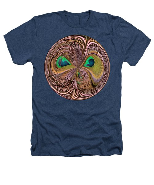 Feather Eyes Orb Heathers T-Shirt by Marv Vandehey