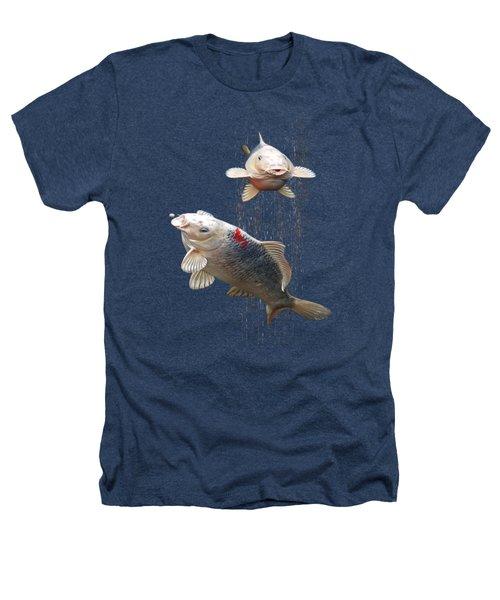 Feeding The Koi Heathers T-Shirt by Gill Billington