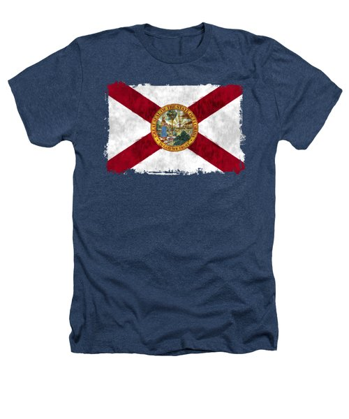 Florida Flag Heathers T-Shirt by World Art Prints And Designs
