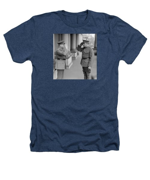 General John Pershing Saluting Babe Ruth Heathers T-Shirt by War Is Hell Store