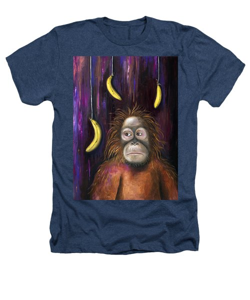 Going Bananas Heathers T-Shirt by Leah Saulnier The Painting Maniac