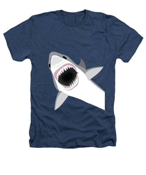 Great White Shark Heathers T-Shirt by Antique Images