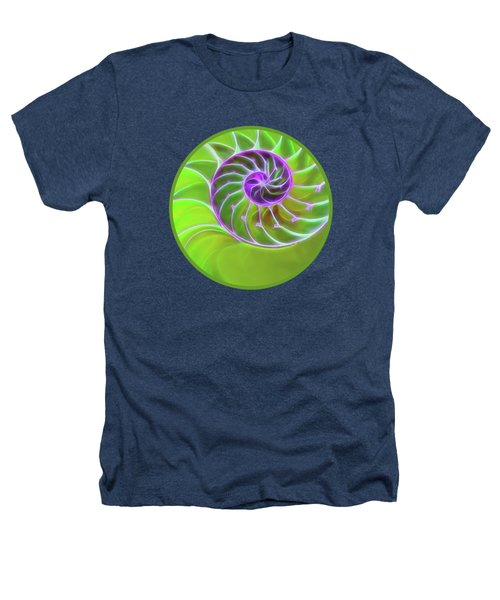 Green And Purple Spiral Heathers T-Shirt by Gill Billington