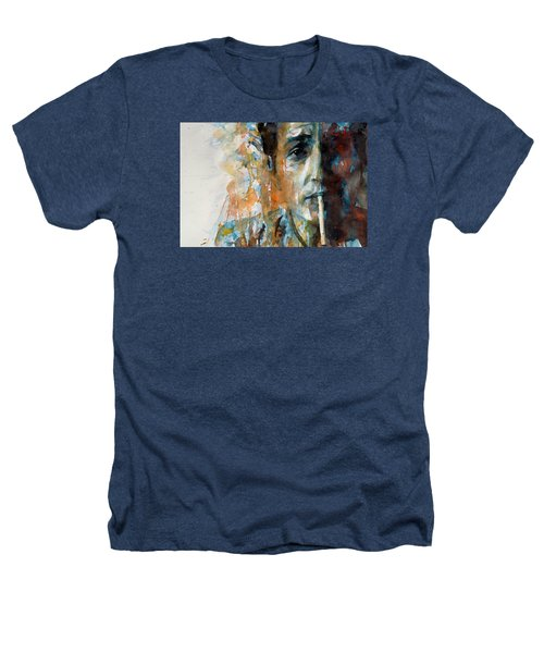 Hey Mr Tambourine Man @ Full Composition Heathers T-Shirt by Paul Lovering
