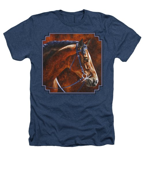 Horse Painting - Ziggy Heathers T-Shirt by Crista Forest