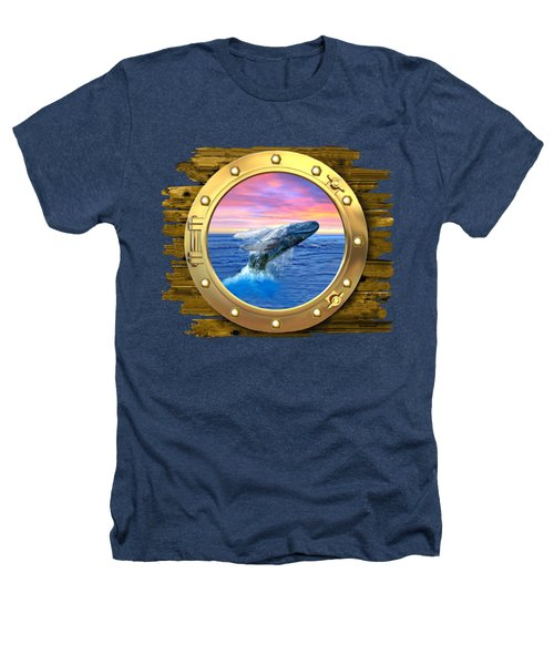 Humpback Whale Breaching At Sunset Heathers T-Shirt by Glenn Holbrook