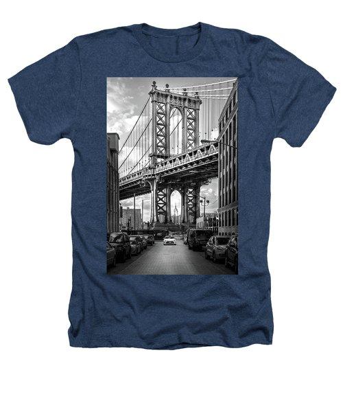 Iconic Manhattan Bw Heathers T-Shirt by Az Jackson