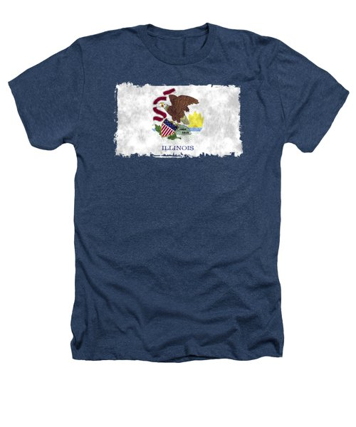Illinois Flag Heathers T-Shirt by World Art Prints And Designs
