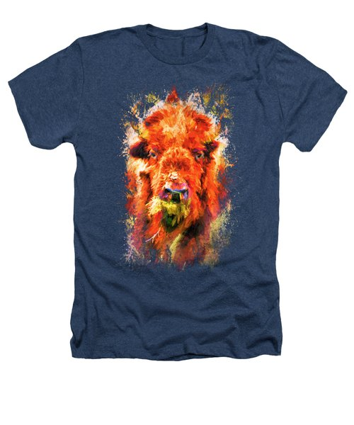 Jazzy Buffalo Colorful Animal Art By Jai Johnson Heathers T-Shirt by Jai Johnson