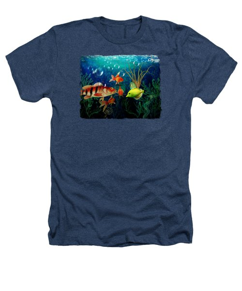 Joy To The Fishes  Heathers T-Shirt by Terry Fleckney