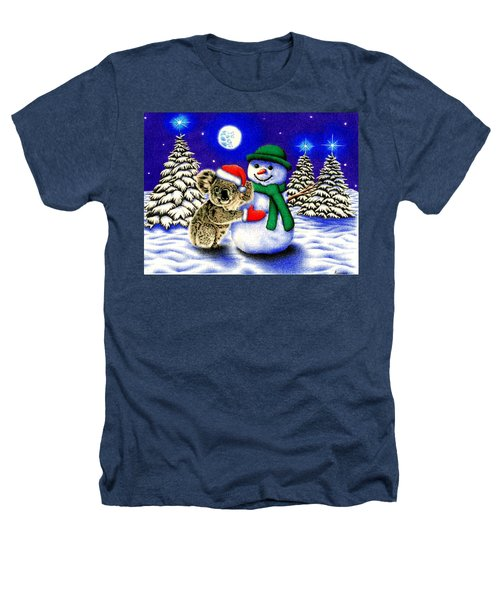 Koala With Snowman Heathers T-Shirt by Remrov