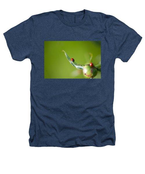 Ladybug On Flower Heathers T-Shirt by Konstantin Sevostyanov