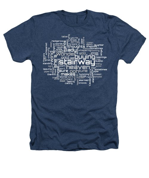 Led Zeppelin - Stairway To Heaven Lyrical Cloud Heathers T-Shirt by Susan Maxwell Schmidt