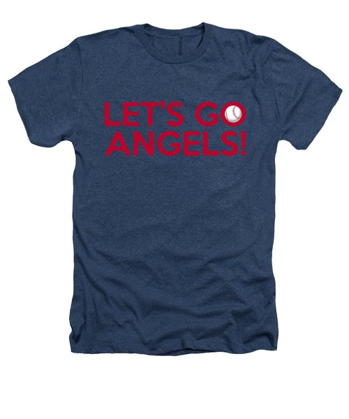 Let's Go Angels Heathers T-Shirt by Florian Rodarte