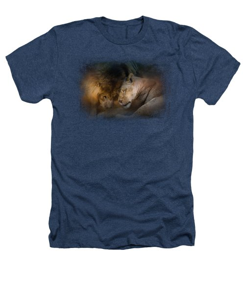 Lion Love Heathers T-Shirt by Jai Johnson