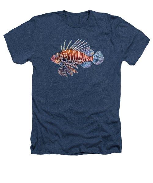 Lionfish In Black Heathers T-Shirt by Hailey E Herrera