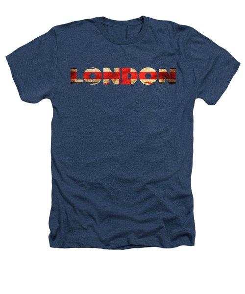 London Vintage British Flag Tee Heathers T-Shirt by Edward Fielding