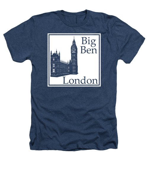London's Big Ben In White Heathers T-Shirt by Custom Home Fashions