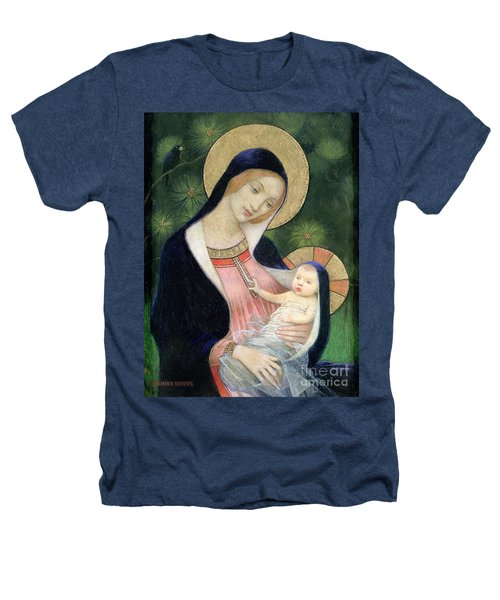 Madonna Of The Fir Tree Heathers T-Shirt by Marianne Stokes