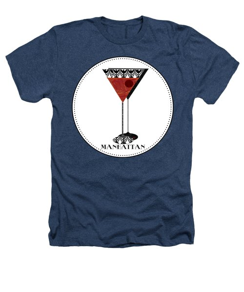 Manhattan Cocktail Pop Art Deco Heathers T-Shirt by Cecely Bloom