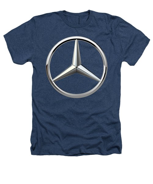 Mercedes-benz - 3d Badge On Black Heathers T-Shirt by Serge Averbukh