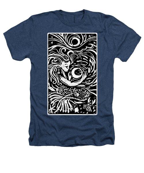 Mermaid Moon Heathers T-Shirt by Katherine Nutt